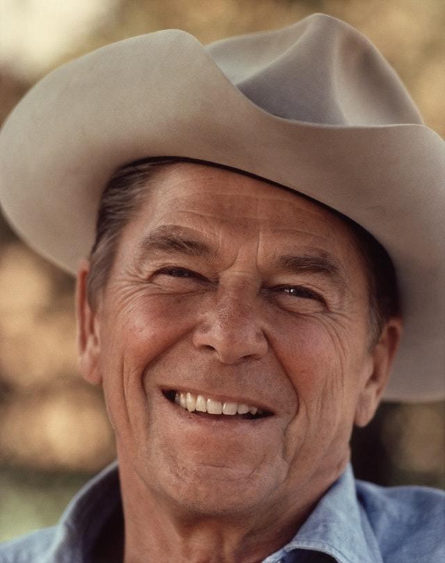 Ronald Regan in cowboy hat