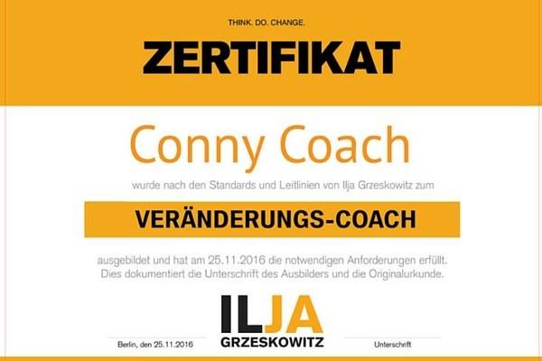 Zertifikat Coach Ausildung