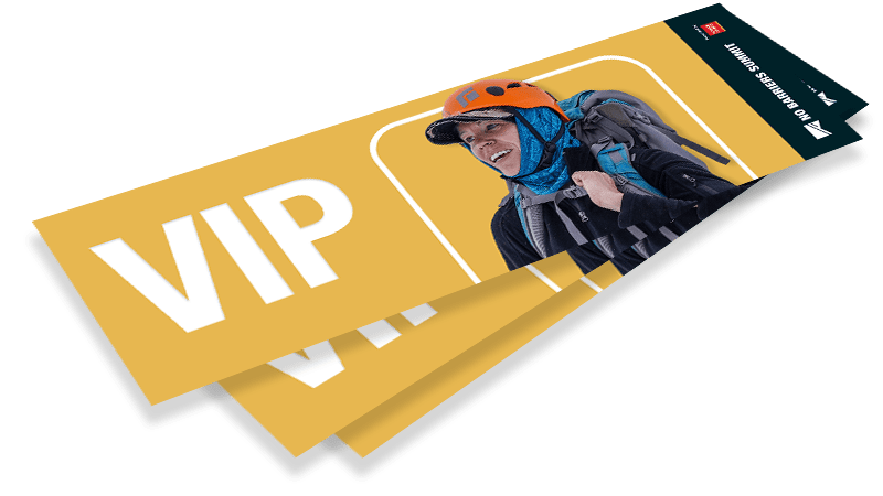 No Barriers Virtual Summit VIP Ticket Mockup
