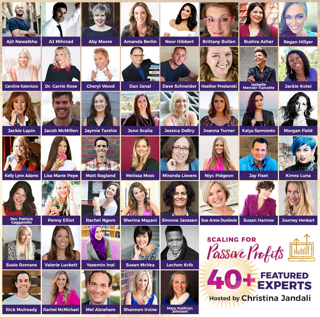 40+ featured industry influencers