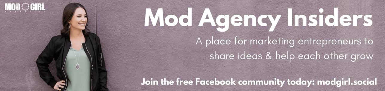 Mod Agency Insiders Facebook Group
