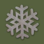 snowflake applique