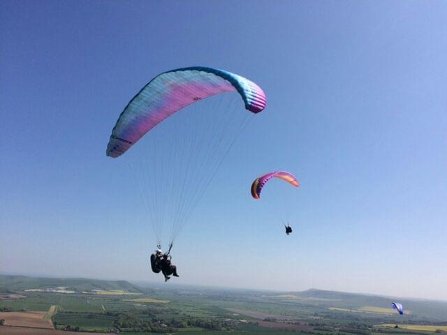Fly Sussex Paraglding, Falcon Flights with Tiger Cox