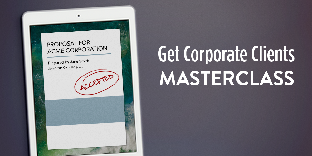 Get Corporate Clients Masterclass Jeanine Blackwell