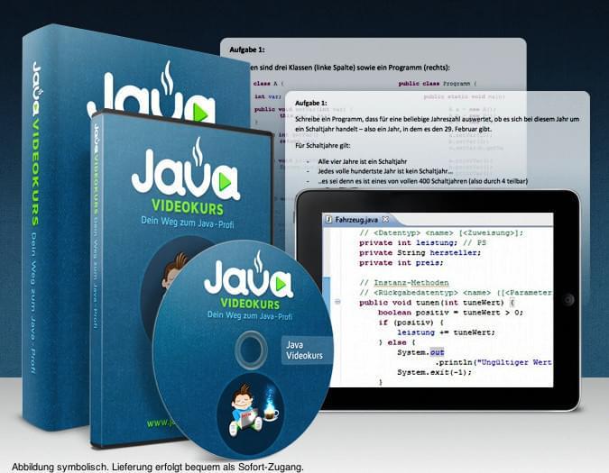 Java lernen mit unserem Java-Videokurs