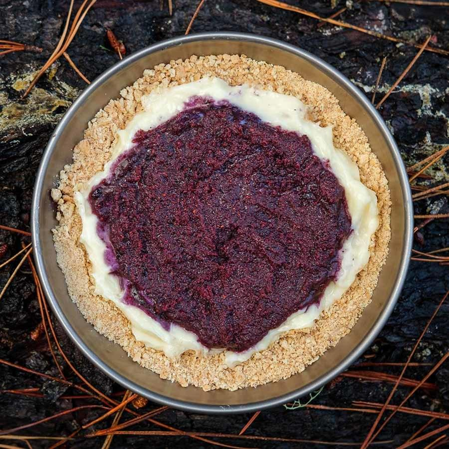 Blueberry Pudding Pie ultralight backpacking recipe. Ready for a high calorie dessert?