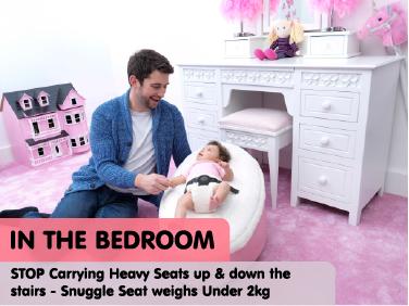 Baby bean bag in the bedroom
