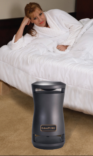 EdenPURE 360 Super Climater keeps the room warm or cool to help you sleep at night