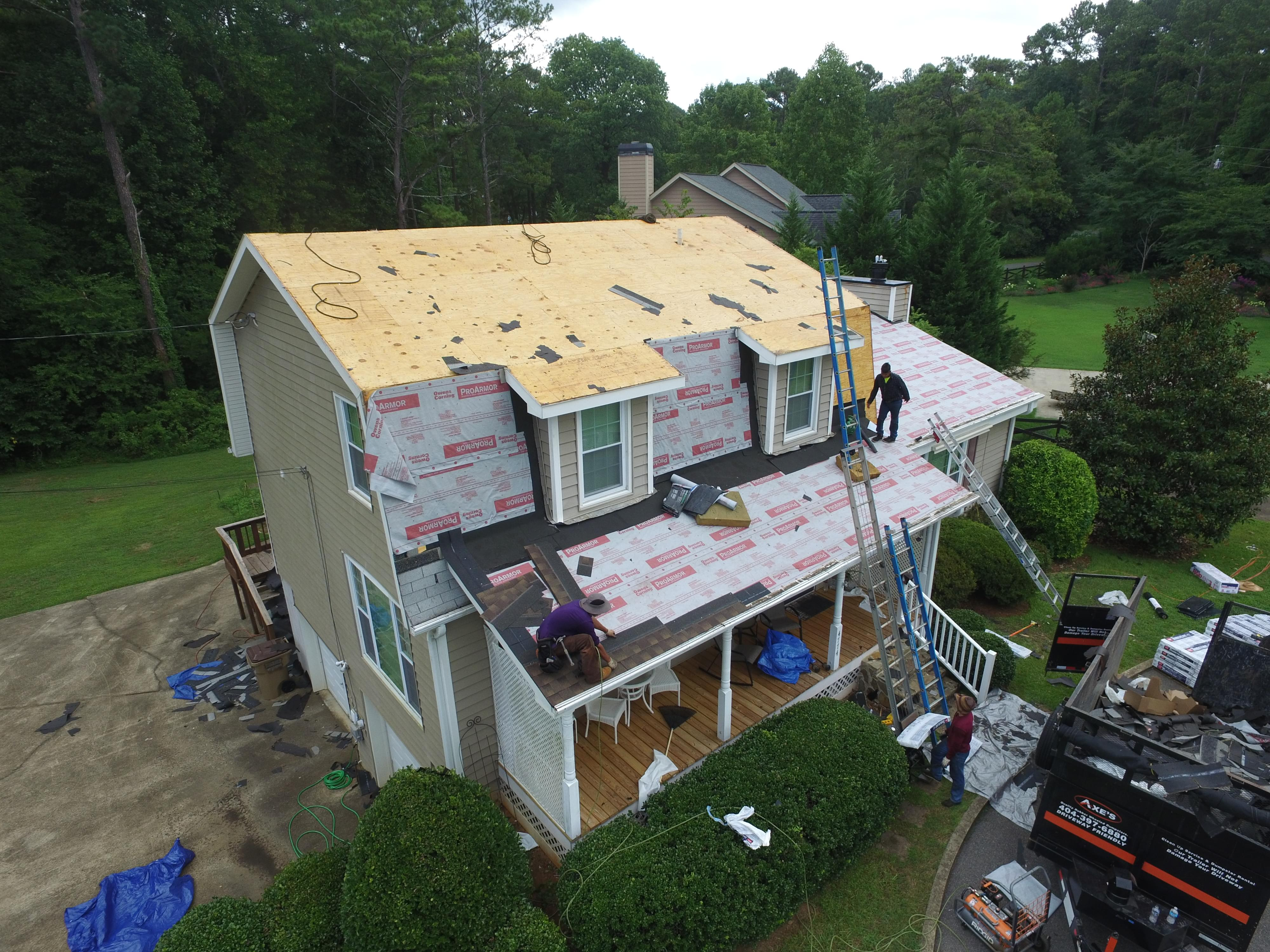 Drone Photo Roof Replacement Colony Dr