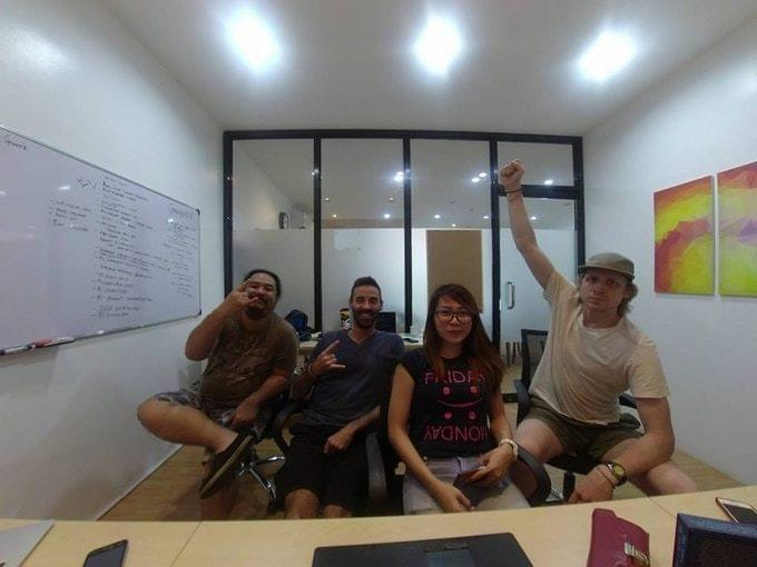 A few of our team members after a product launch in the Philippines