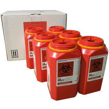 1 quart mail back sharps disposal kit - pack of six