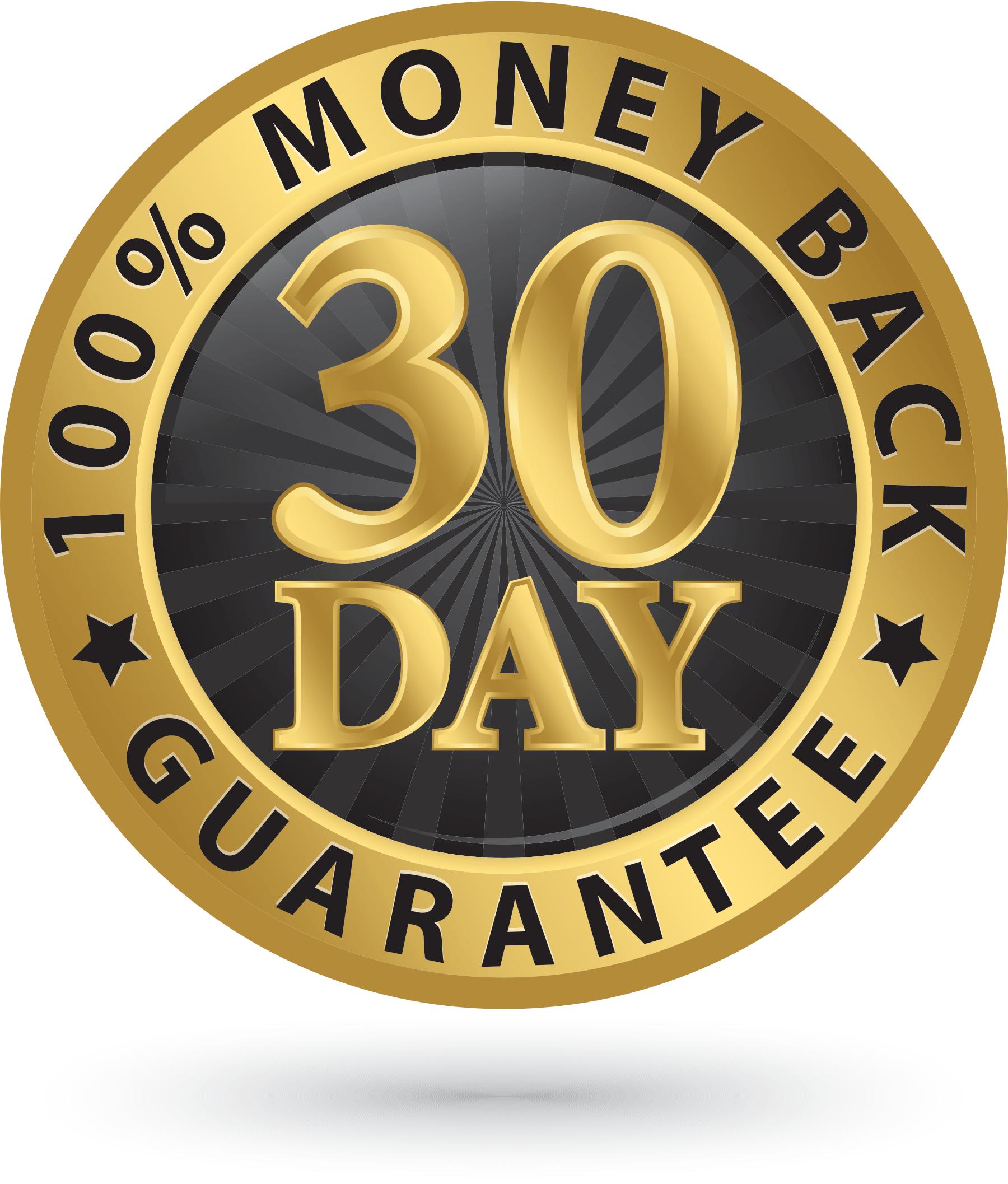 30 Day Monday Back Guarantee
