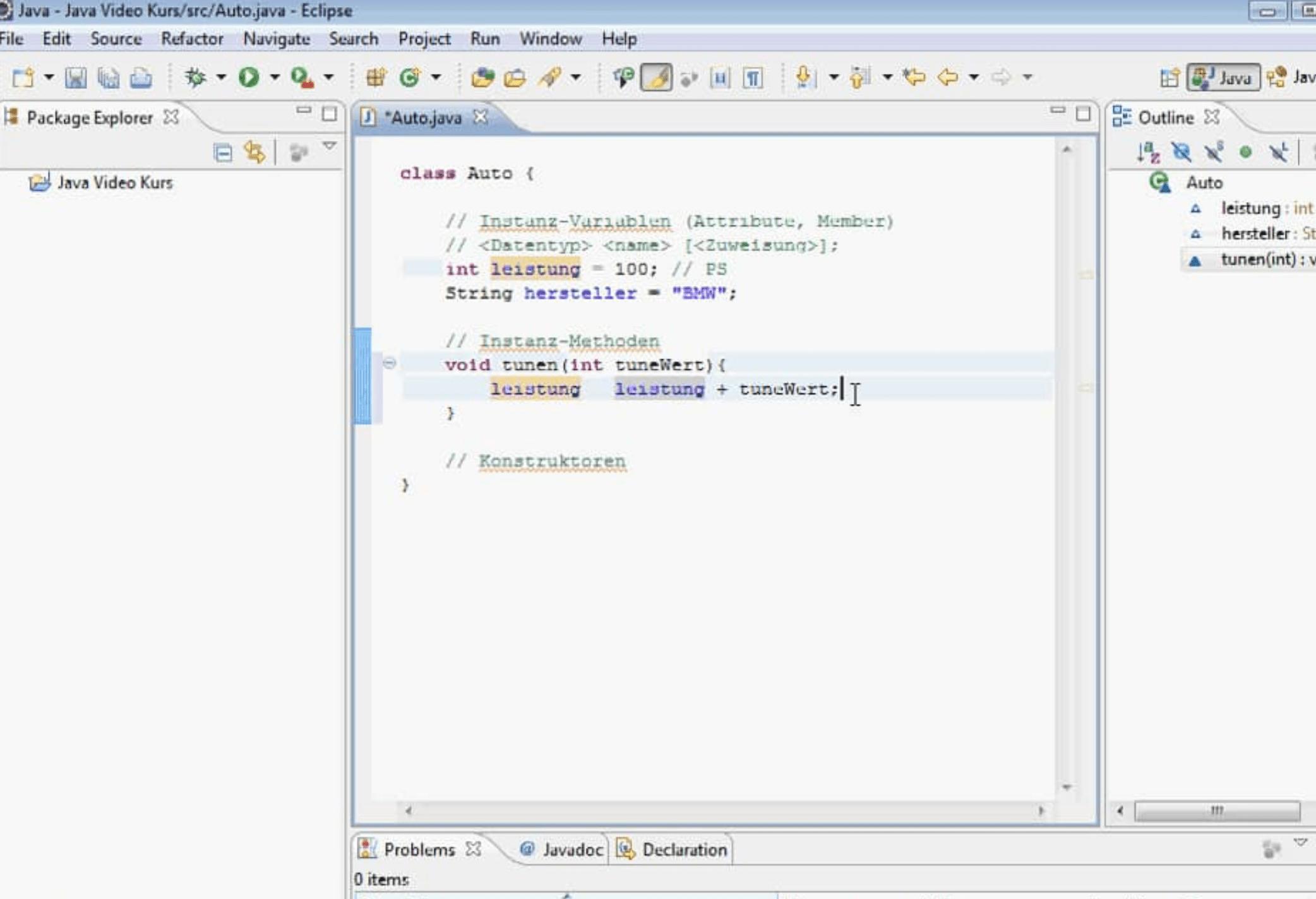 Java Instanzmethode