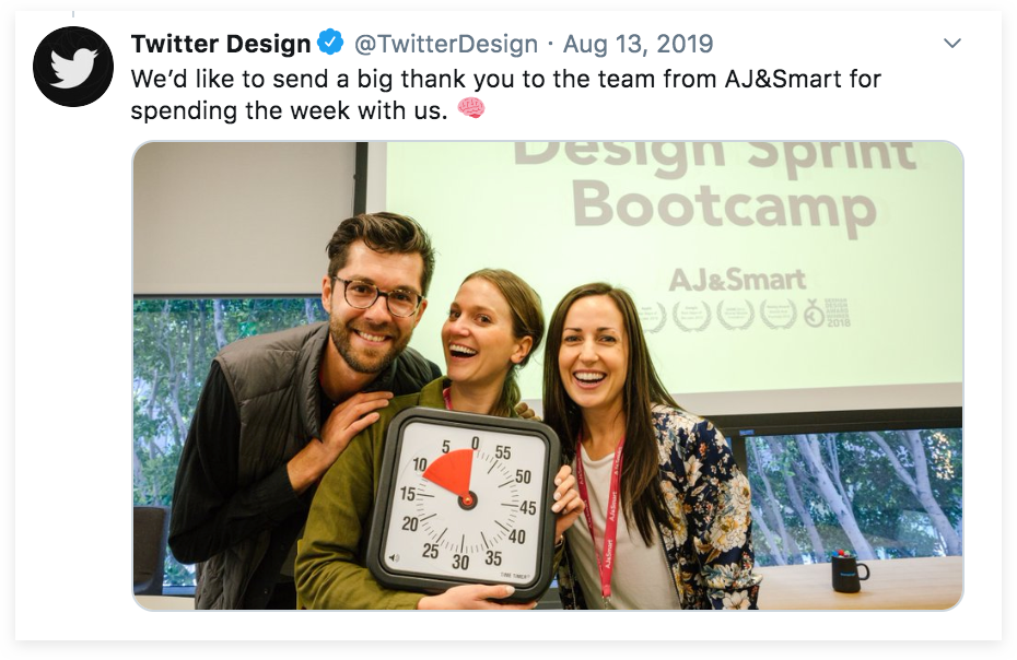Design Sprint Twitter with TimeTimer clock