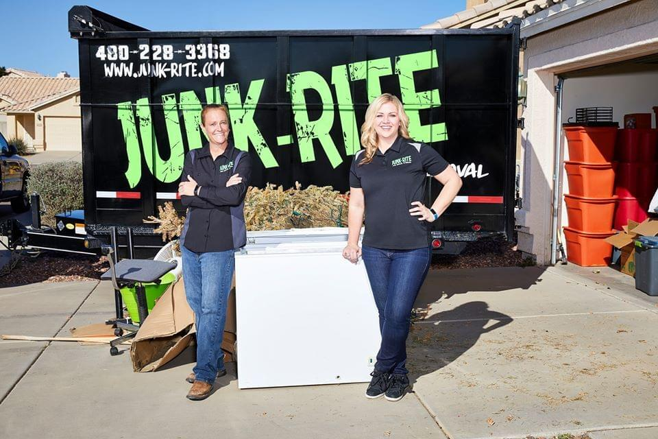 Junk Rite woman owned junk removal business