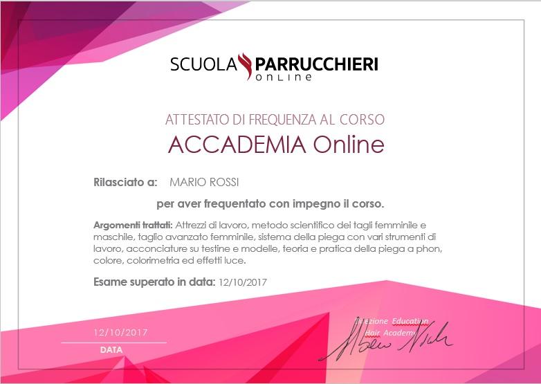 pagamento sicuro corsi online per acconciatori hair academy