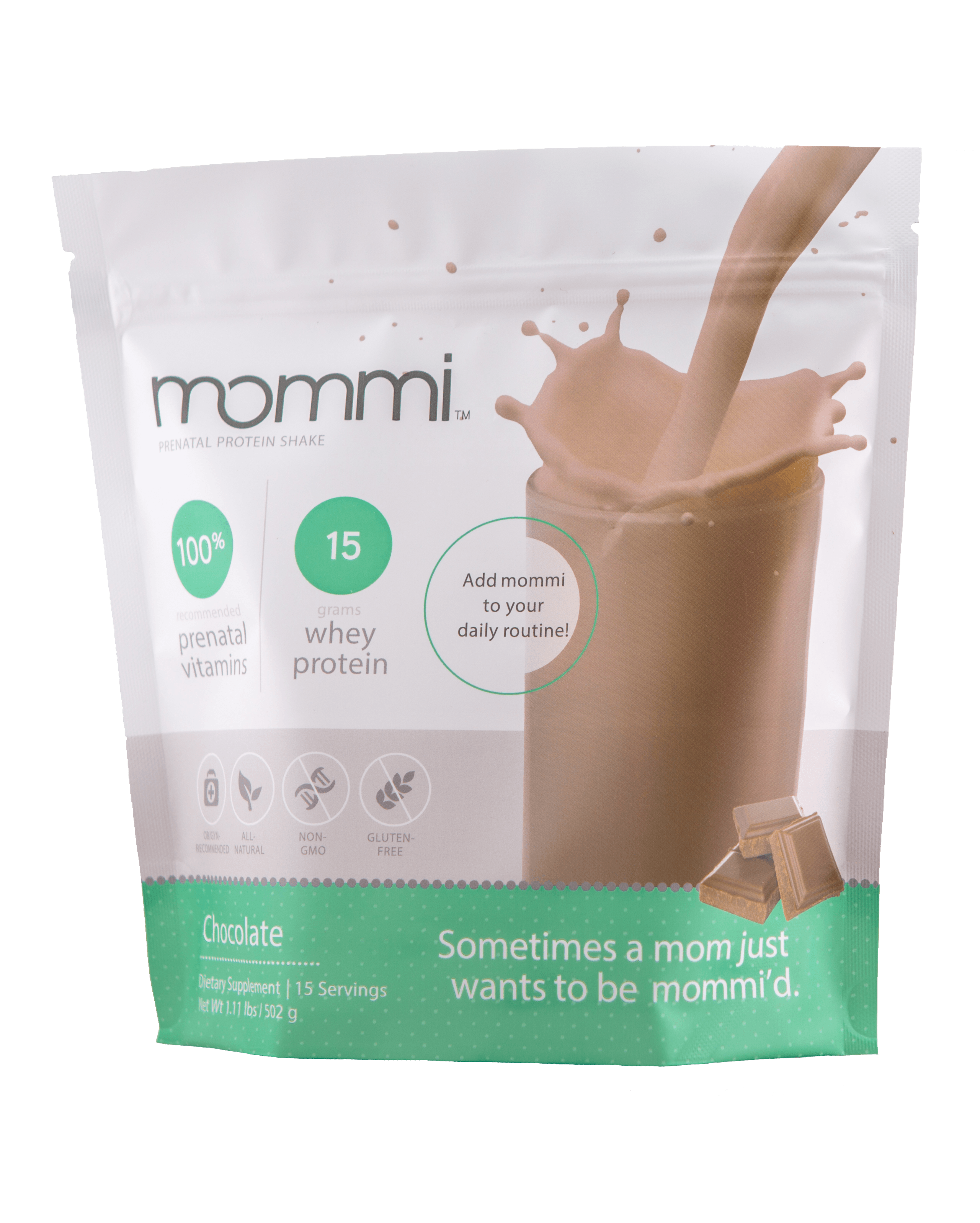 Mommi Prenatal Protein Chocolate Package Front