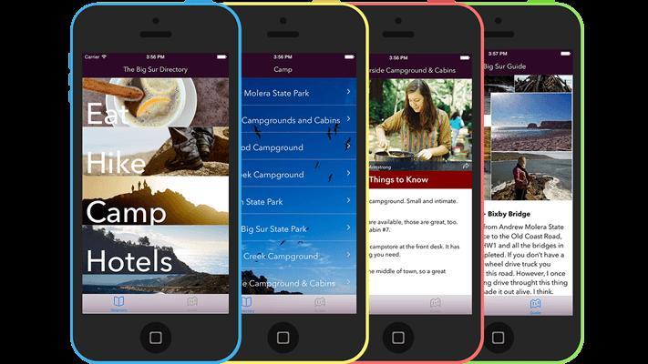 Big Sur Directory & Guide iPhone App