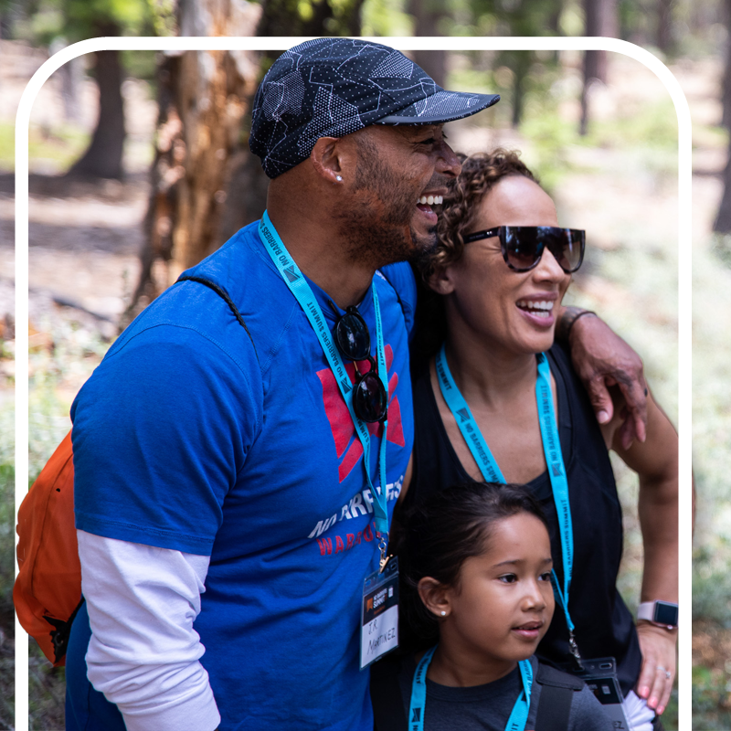 JR Martinez and family enjoying the 2019 No Barriers Summit