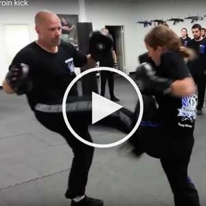 Groin Kick Defense Drill of Texas Krav Maga in Houston