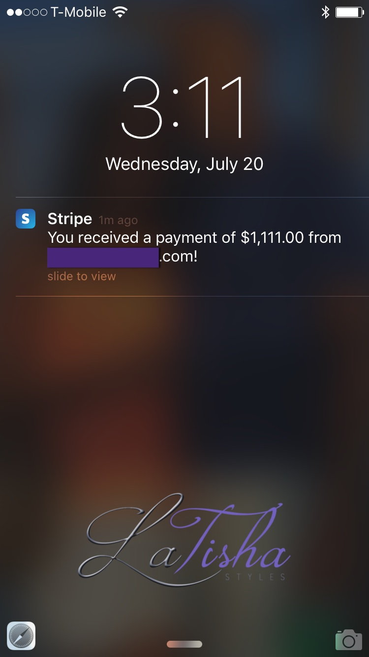 stripe notification