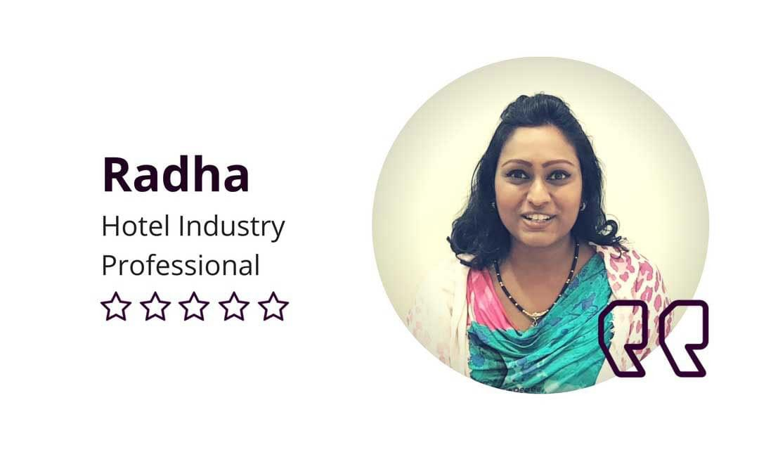 "Radha D'Elegance Testimonial: ""Really Amazed Because I Was Looking Very Slim"""
