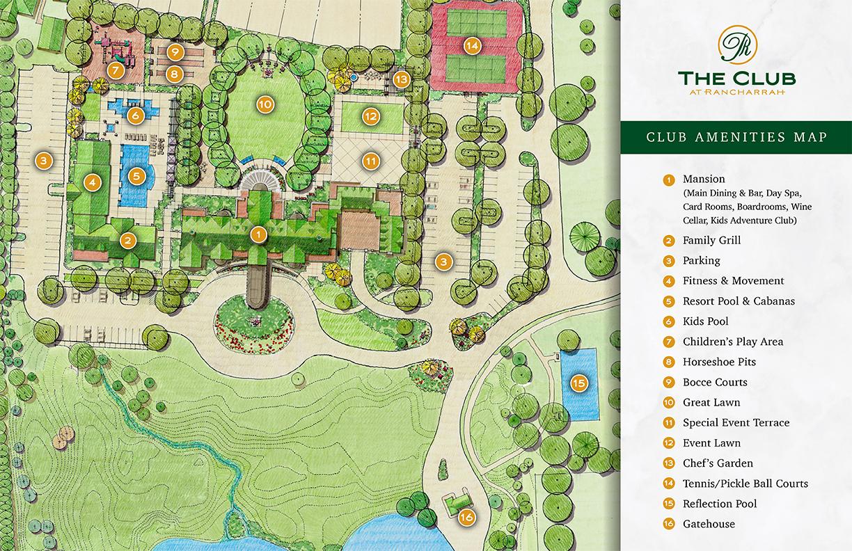 Rancharrah Club Amenities Map
