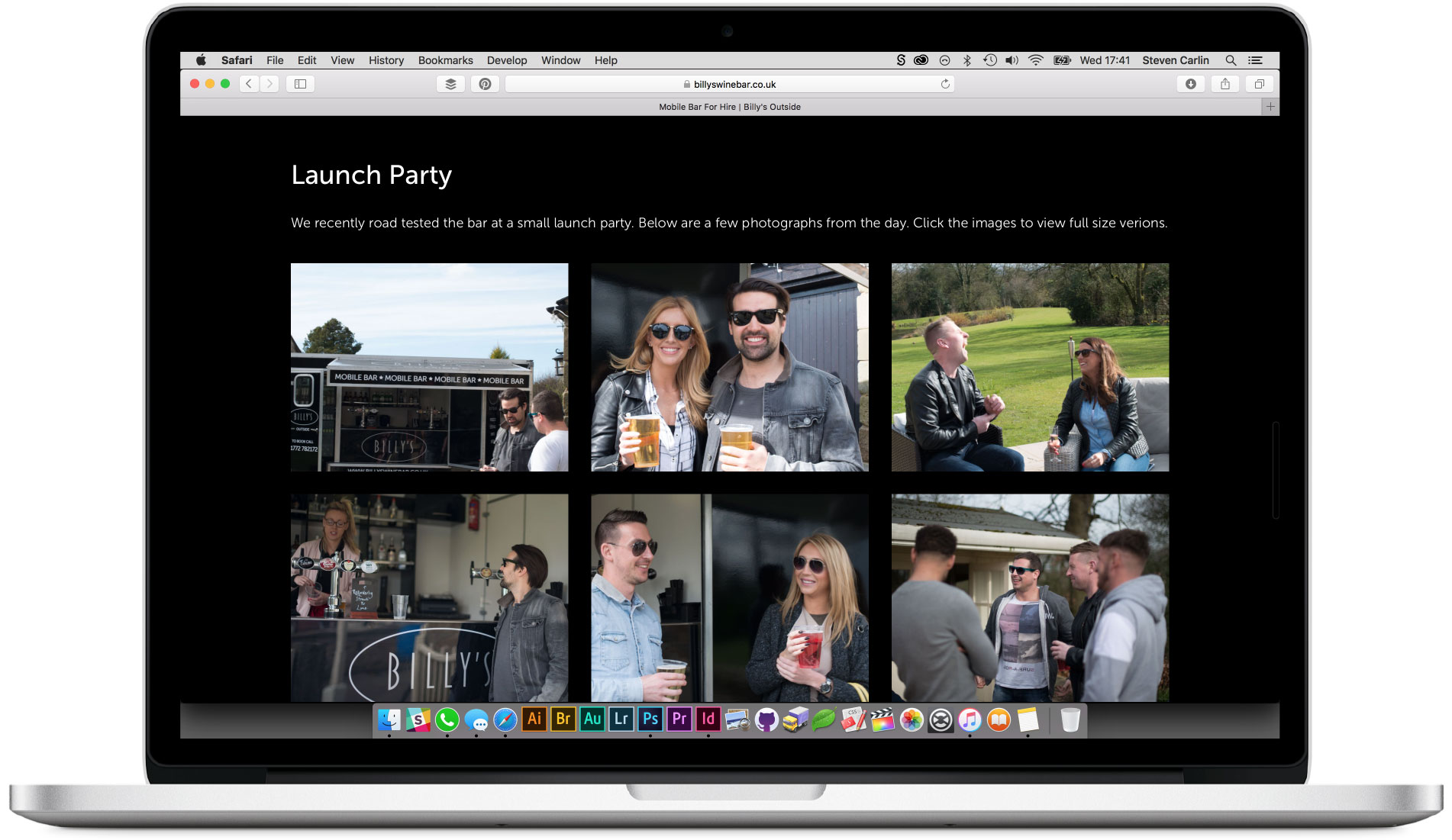 Launch party gallery section.