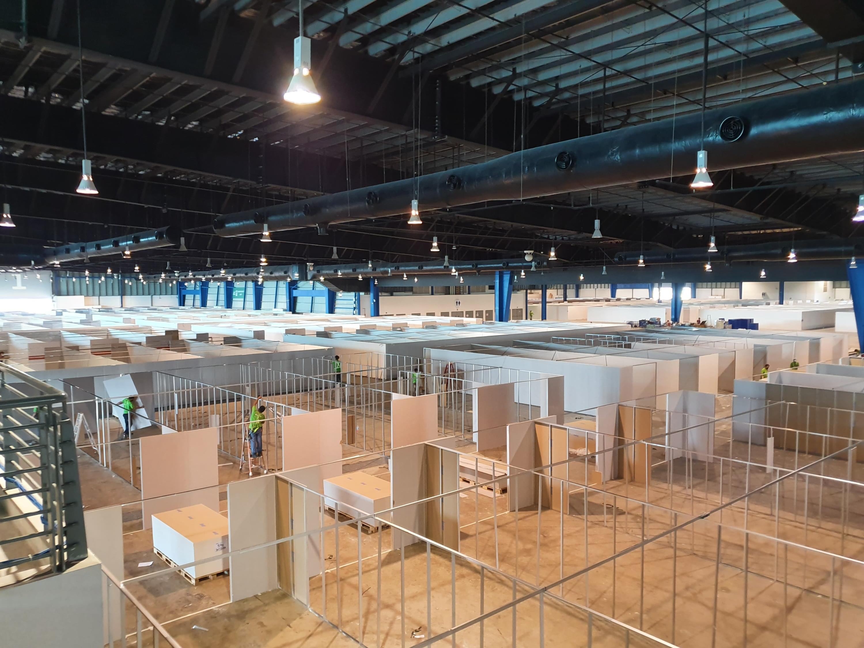Coronavirus isolation facility under construction in Singapore