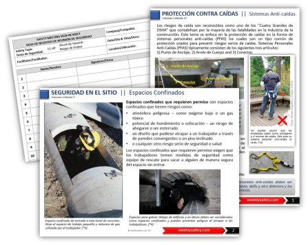 safety topics in spanish