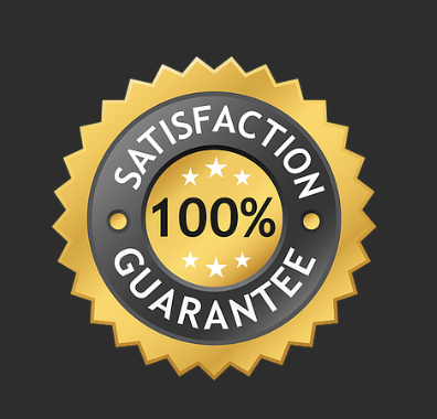 Badge of satisfaction guarantee