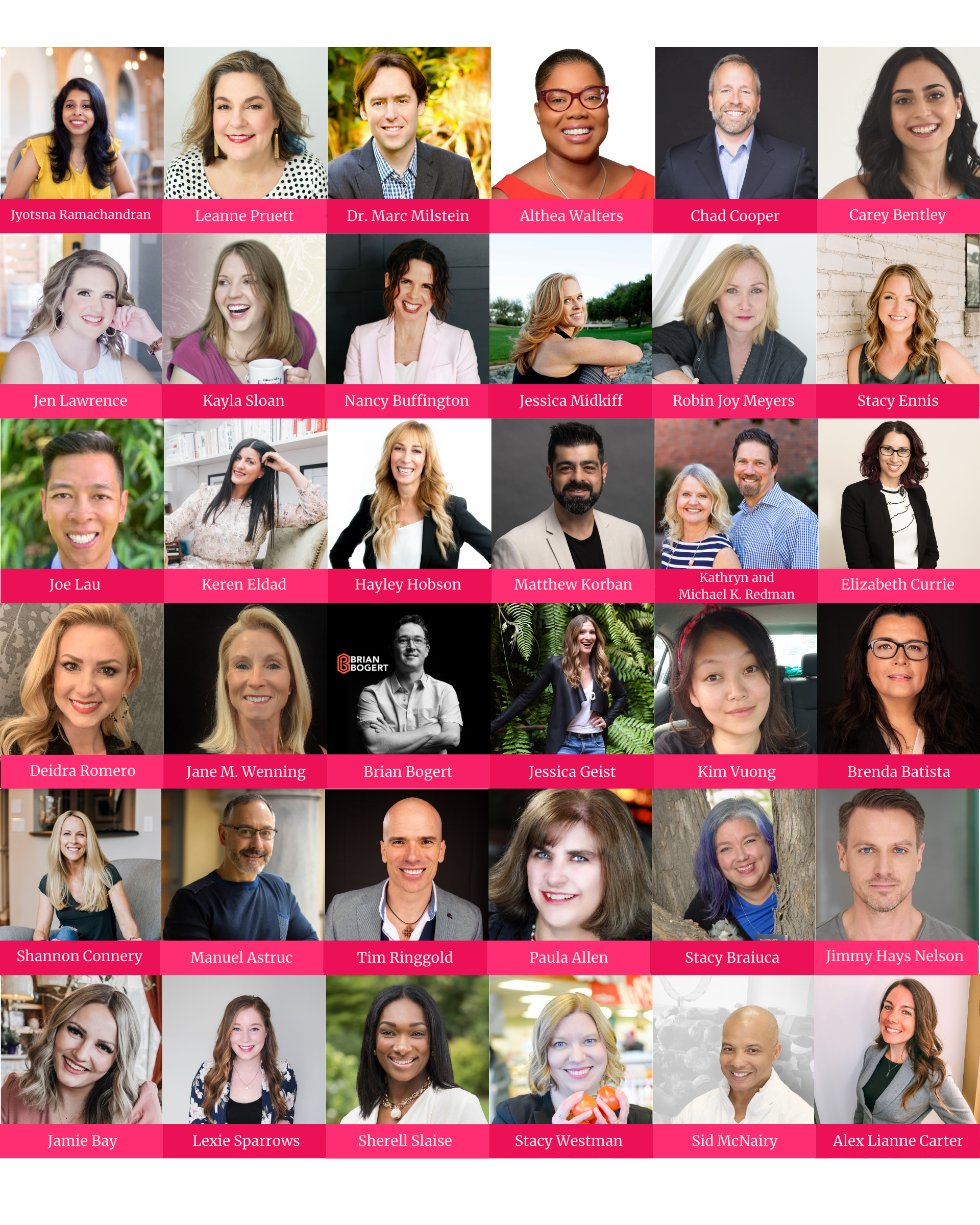 30+ featured industry influencers