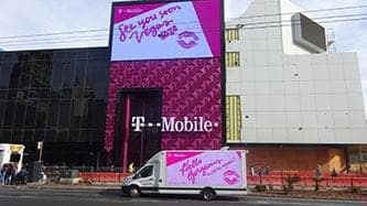 digital mobile billboard truck for t-mobile in las vegas