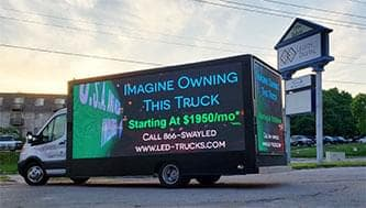 legion digital led mobile billboard trucks