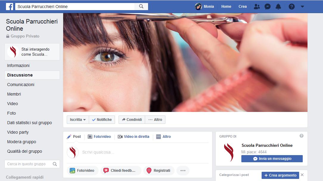 gruppo Facebook hair academy
