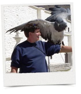 Rob Matthews with Condor in Peru