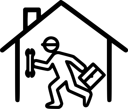 repair man service cll to your house icon