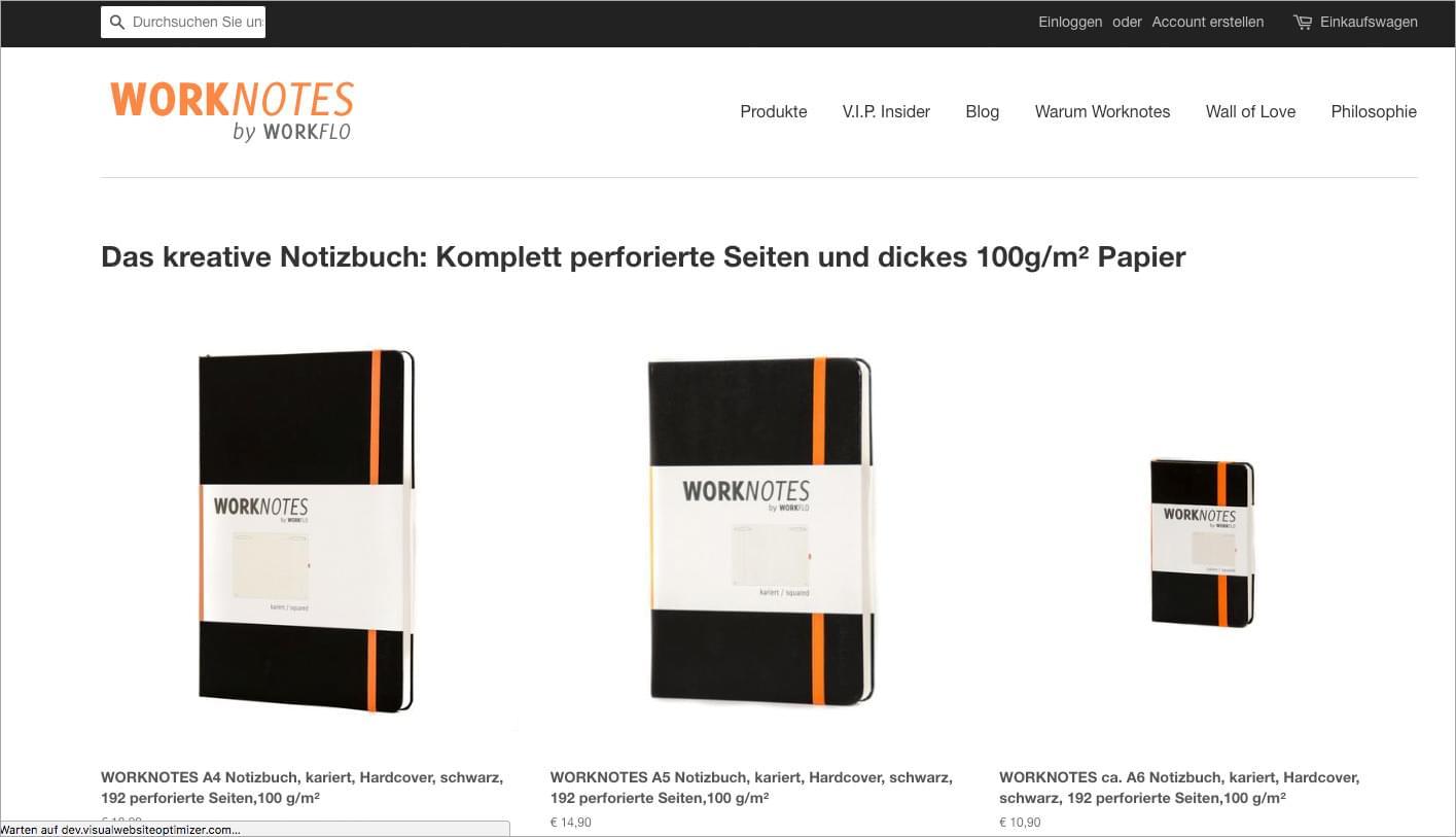 Worknotes - Das Notizbuch für Kreative und Macher