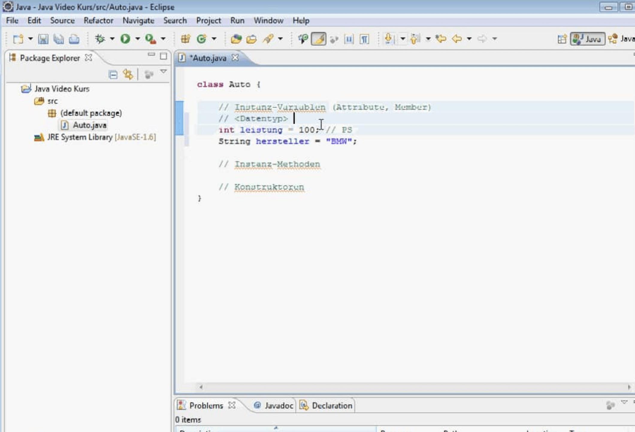Java Instanzvariable
