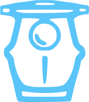 Blue pool ump equipment icon