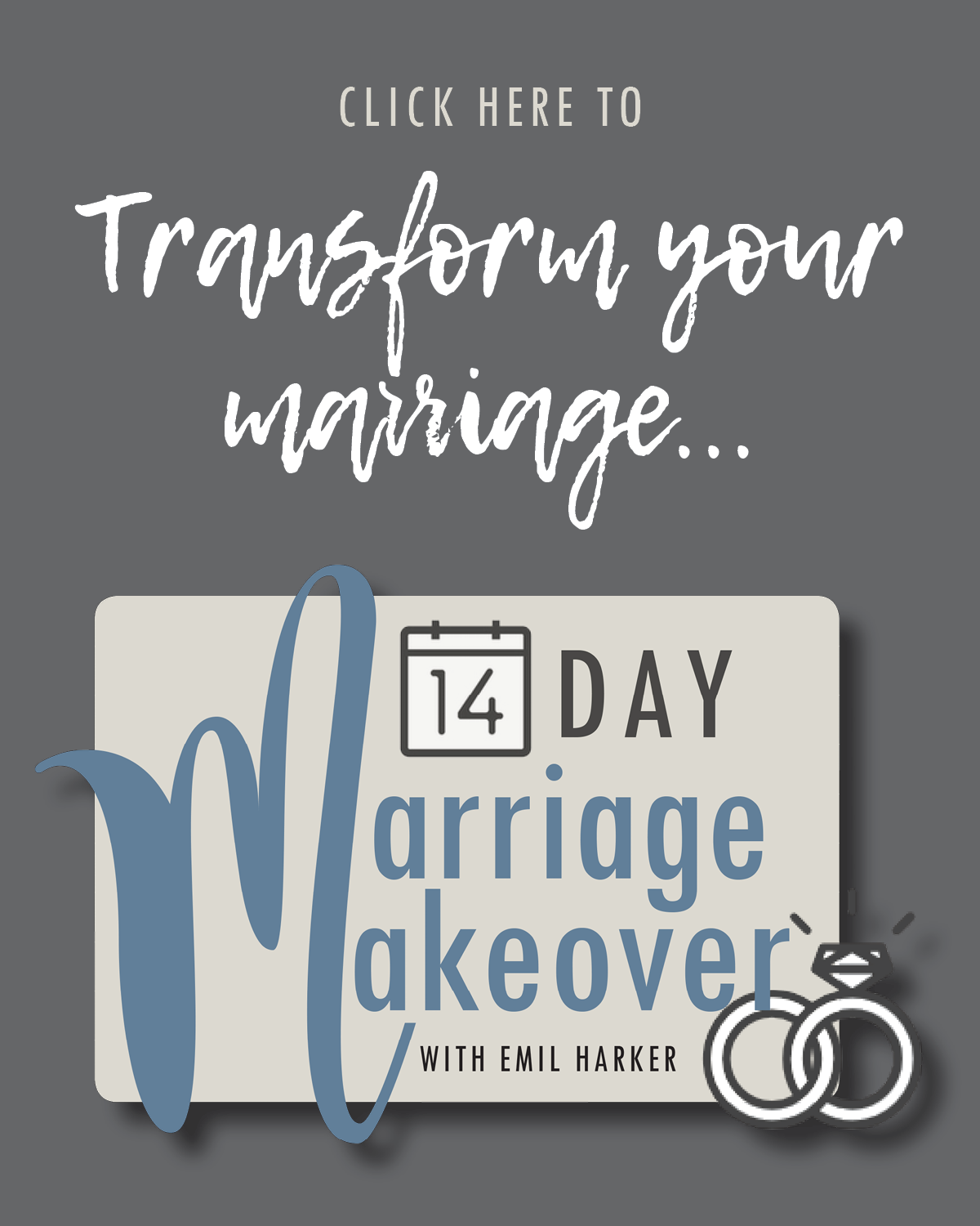 Transform your marriage with the 14 day Marriage Makeover