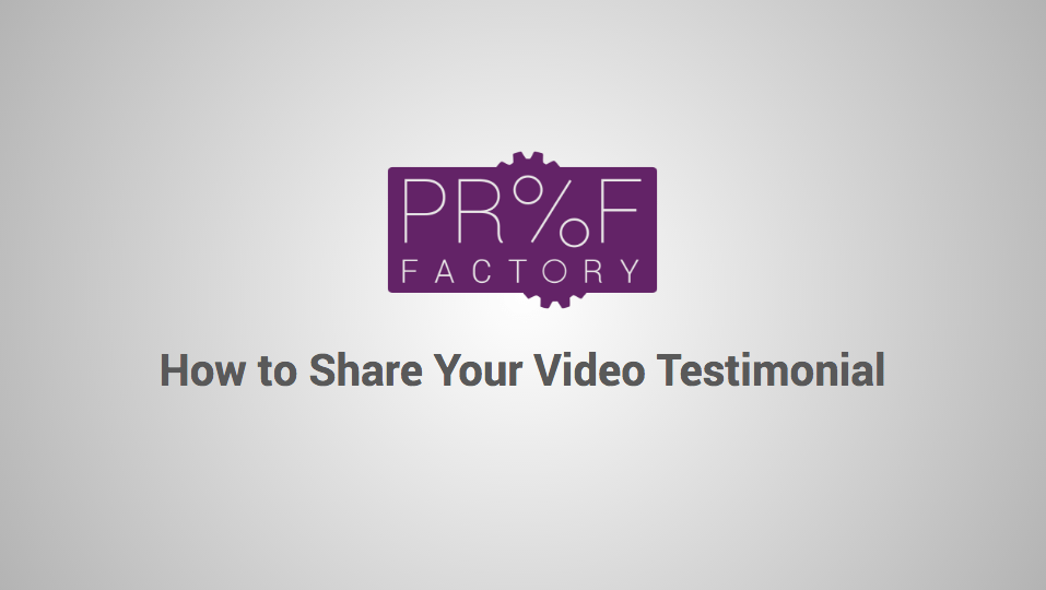 How to Share Your Video