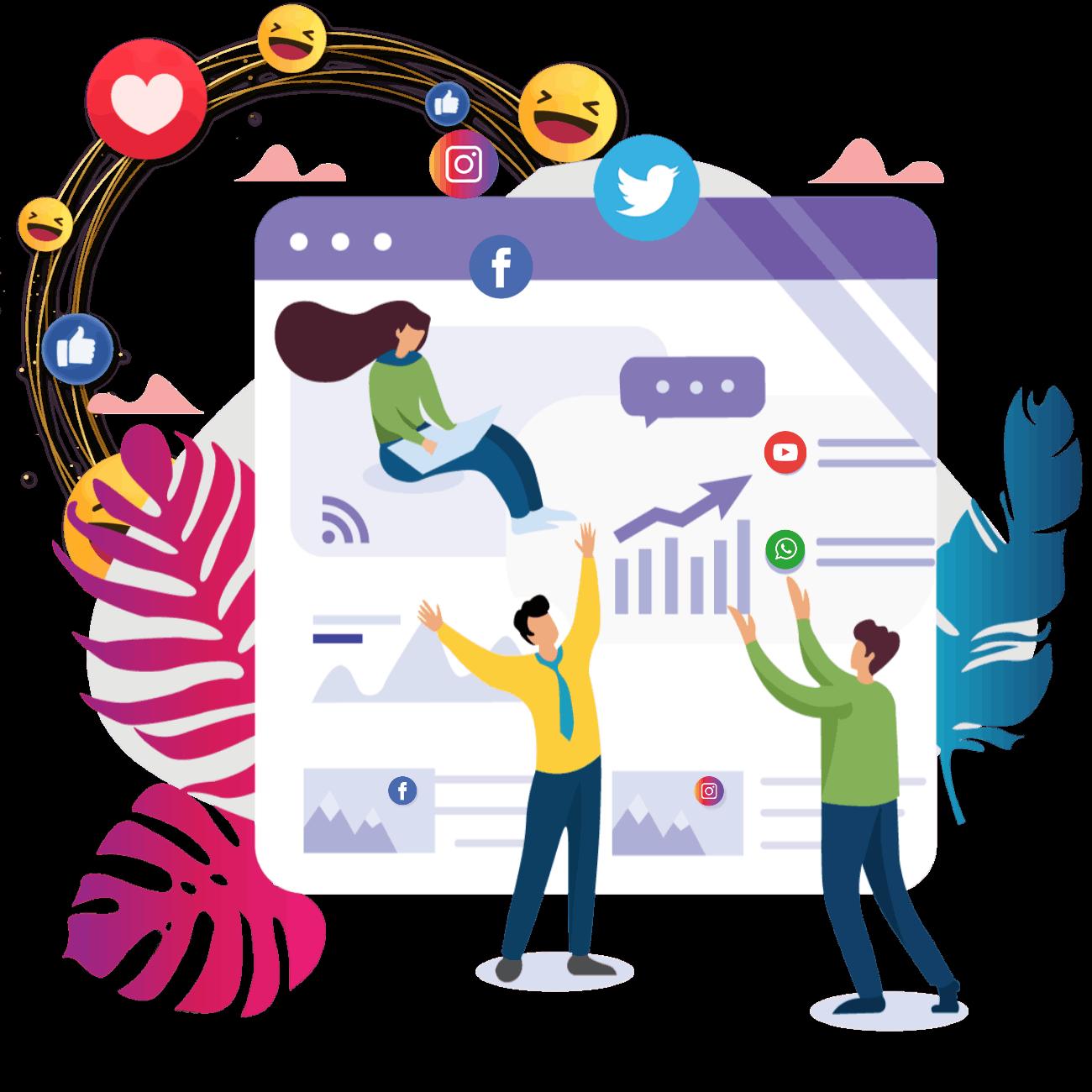 MULTIPLE SOCIAL MEDIA PROFILES