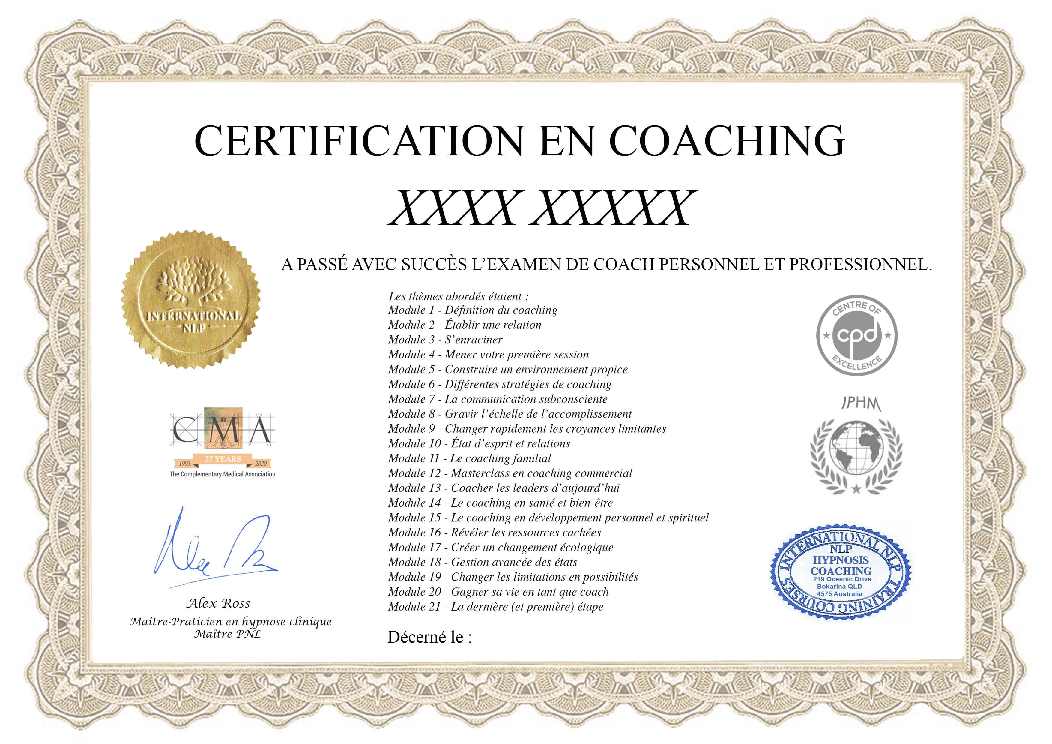 certificat, certification, diplôme, art-thérapie