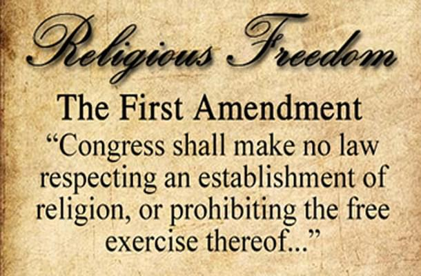 First Amendment excerpt on religious freedom