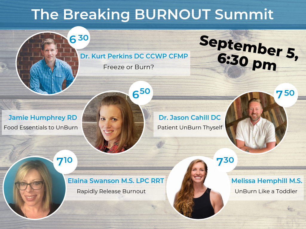 The Breaking Burnout Summit Line Up