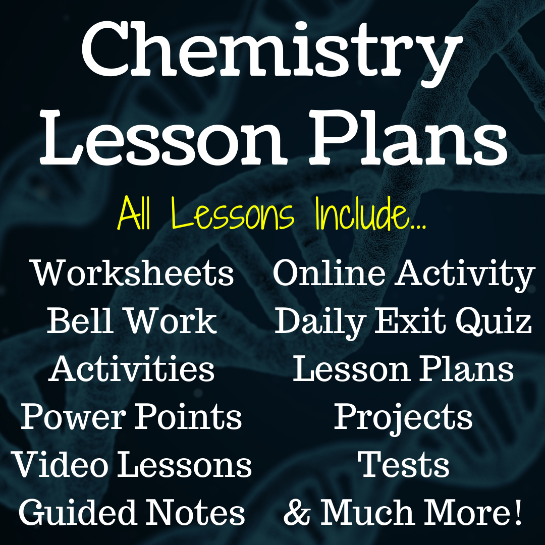 FREE Chemistry Lesson Plans