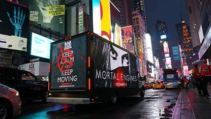 LED mobile billboard truck in NYC Times Square