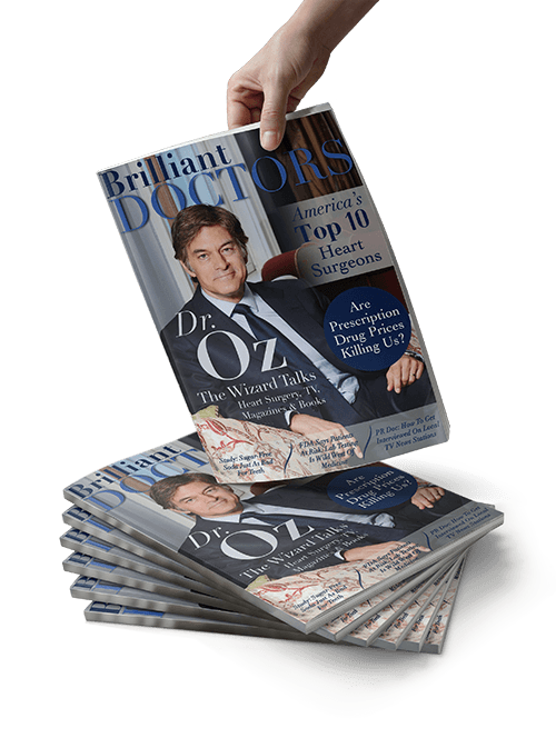 Dr. Oz on the cover of Brilliant Doctors Magazine