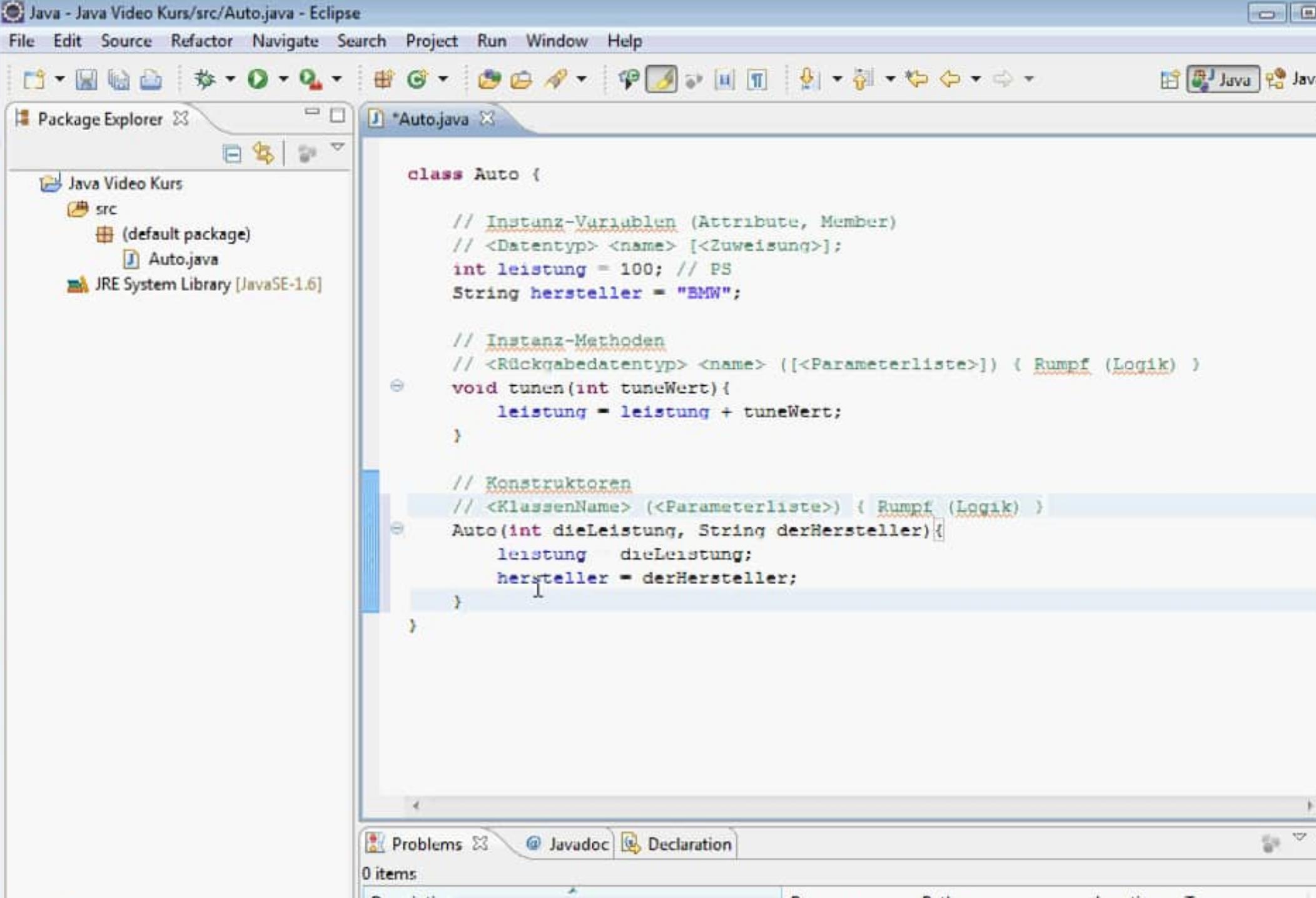 Java Konstruktor
